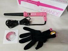 ENZO MILANO – GRANDE Clipless Curling Iron 25/188m PINK - OPENED BOX FREE SHIP