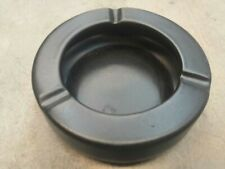 Black ceramic ashtray