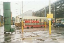 PHOTO  1994 BLACKPOOL TRAM DEPOT VIEW OF THE OPEN SALOON OR TOASTRACK VEHICLE