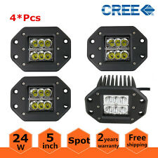 4X 5inch 24W Flush Mount Bumper Reverse Led Light Pods Fog Ford F150/250/350 4''
