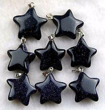 8pcs Beautiful Unique Blue Sand Stone 20x6mm star Pendant Beads fs00741