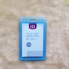 New Durable Hard Plastic ID Card Badge Holder Employee Name Tag Waterproof