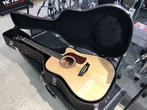 Washburn D10 Natural Dreadnought Acoustic Electric Guitar with Hard Case HD10SCE