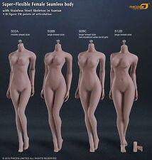 Phicen 1/6 Female Flexible Steel Stainless Nude Body Seamless Girl Figure Doll