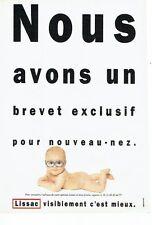 Publicité Advertising   077  1989  les lunettes bébé Lissac