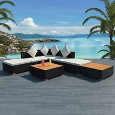 7 Piece Garden Lounge Set Corner Sectional Sofa Set Outdoor Couch Pool Furniture