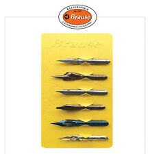 NEW Brause Special Dip Pen Nibs 6ea in 1 set/ Point Nib Lot/ Calligraphy Drawing