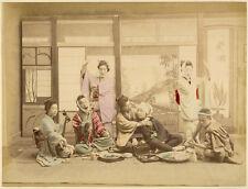 Photo Albuminé Japon Japan Japanese Theater Vers 1880