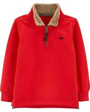 Carter's | Toddler Half-Zip Pullover Sweater - Red - 5T