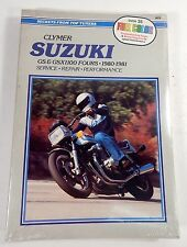 CLYMER Suzuki GS AND GSX1100 Fours 1980-1981 Service Repair Manual NEW