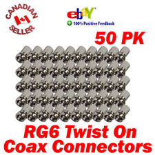 "50 Coaxial Cable RG6 F ""Twist On"" Connectors for Coax cable, Satellite and more"