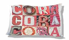 Personalized Pillowcase featuring CORA in photo of CORAL sign letters