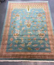 Vintage Chinese Handwoven Unusal Dragon Carpet