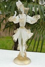 Statue homme danseur en verre soufflé de Murano inclusion d'or 38cm  ref 433
