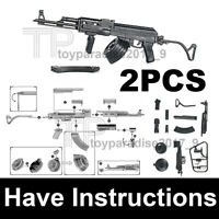 "1/6 Scale 12"" Action Figure Gun Model Gun Assault Rifle AK47 Tactics 2PCS"