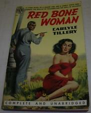 RED BONE WOMAN by Carlyle Tillery (Avon 1951) RARE Vintage Paperback