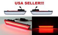 2011 2012 2013 2014 DODGE CHARGER CLEAR LENS RED LED REAR SIDE MARKER LIGHT SET