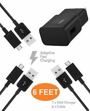 BlackBerry Priv Charger ( 6 FEET ) Micro USB 2.0 Cable Kit by TruWire { Wall ...