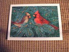 5 Cardinal Christmas Cards with white envelopes  Snowflake Studios