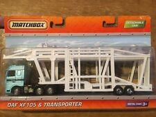 Unbelievably Rare matchbox DAF XF105 Car transporter 2010 White Trailer 2010 MOC