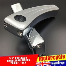 "Rise 5.5"" Chrome Handlebar Risers 4  Suzuki Boulevard C50 M95 C50T C90 C90T"