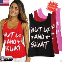 Fashion Women Workout Tank Top T-shirt-Gym Clothes Fitness Yoga Lift VEST Blouse