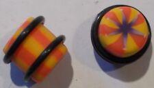 12mm  plastic  flower design plug