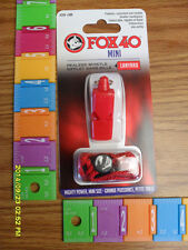 """Referee Whistle: Fox 40 Mini Referee Officials Whistle """"Red w Matching Lanyard"""