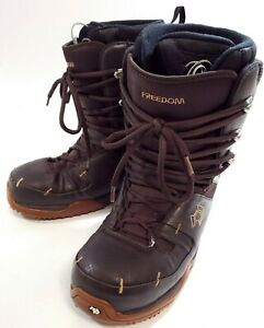 Northwave FREEDOM Leather Brown Winter snowboard Boots Lace Up Mens Size 10