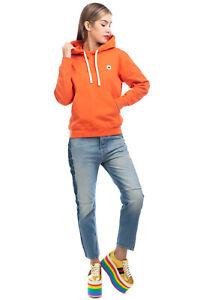 RRP €105 WOOD WOOD Hoodie Size S Orange Logo Patch Long Sleeve