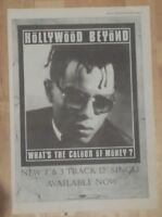 Hollywood Beyond What's the colour 1986 press advert Full page 28 x 39 cm poster