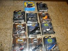 11 LOT Hot Wheels DC  1966 Batman Classic TV Series BATBOAT BATMOBILE CATWOMAN