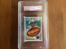 1983 TOPPS FOOTBALL CELLO  WITH MARCUS ALLEN ROOKIE ON  BACK PSA GRADED 10