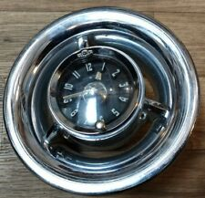 1954 Pontiac Clock and chrome bezel Reconditioned Running