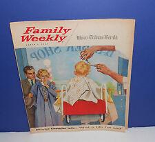 1959 FAMILY WEEKLY NEWSPAPER INSERT MAGAZINE - WACO TRIBUNE - FIRST HAIRCUT