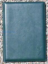 ROLEX porta appunti verde ORIGINALE NUOVO con penna originale ROLEX