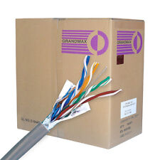 CAT 6 BULK ETHERNET CABLE 1000 FT SOLID SHIELDED GRAY