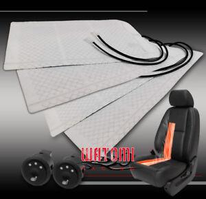 2X HEATED SEAT HEATER PAD KIT +ROUND HI/MID/LOW SWITCH SRX EQUINOX JOURNEY ASTRA