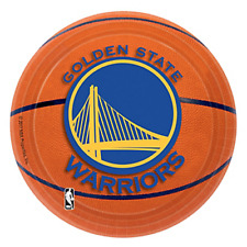 NBA GOLDEN STATE WARRIORS SMALL PAPER PLATES (8) ~ Birthday Party Supplies Cake