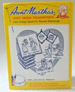 Aunt Martha's Hot Iron On Transfers - 3598 HILLBILLY ROMANCE