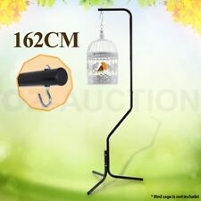 162cm Black Iron Tube Frame Parrot Canary Bird Cage Hanger Stand 3 Leg Support