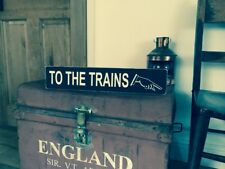 Railway Sign Vintage Steam Old Style Platform Trains GWR Train Gift
