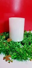 Flameless Wax Candle 4 Inch L.E.D White Pillar 4 And 8 Hour Timer By Melrose New