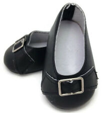 Black Pilgrim Dress Shoes made for 18 inch American Girl Doll Clothes