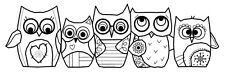 Woodware Clear Singles Stamp - Owls FRS347
