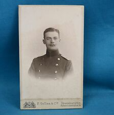 1901 CDV Foto German Army Deutsches Heer Soldier By Gollas Strassburg