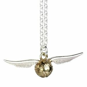 Harry Potter Golden Snitch Sterling Silver Necklace Pendant - Boxed Quidditch