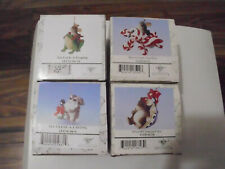 charming tails lot of 4 ornaments by. fitz and floyd limited edition