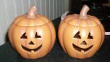 Set 2 Partylite pumpkin jack-o-lantern votive candle holders Excellent