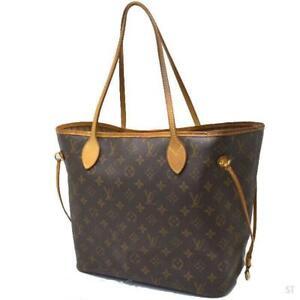 Louis Vuitton LV M40156 Tote Bag Neverfull MM Brown Monogram Used